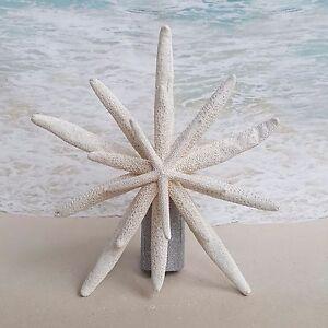 Details About Silver Starfish Tree Topper Beach Christmas Coastal Nautical Xmas Star Sea