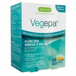 Vegepa OMEGA - 3-6 acidi grassi essenziali, olio di pesce Selvatico & Olio di Enotera, 60