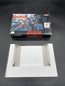 Super Castlevania IV Super Nintendo SNES BOX ONLY NO GAME Authentic