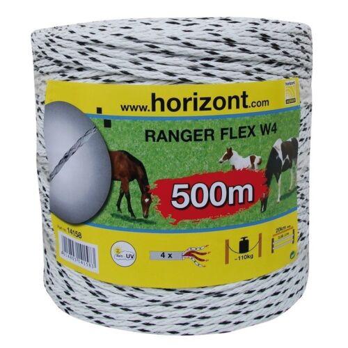 4mm x 200m//500m Spule LZ 4 HORIZONT RANGER FLEX W4 Weidezaun Seil