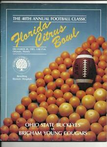 1985 Citrus Bowl Game Program Ohio State BYU