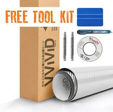 White carbon fiber vinyl car vehicle wrap 7.5M x 1.52M VViViD9 + free tool kit