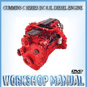 Cummins C Series Isc 8 3l Diesel Engine Workshop Service Repair Manual In Disc Ebay