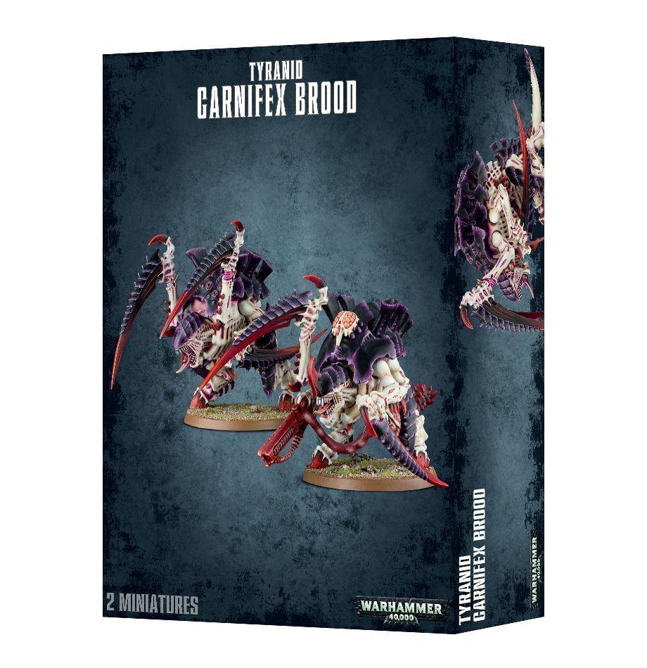 Warhammer 40K Tyranid Carnifex Brood plastic Nuovo