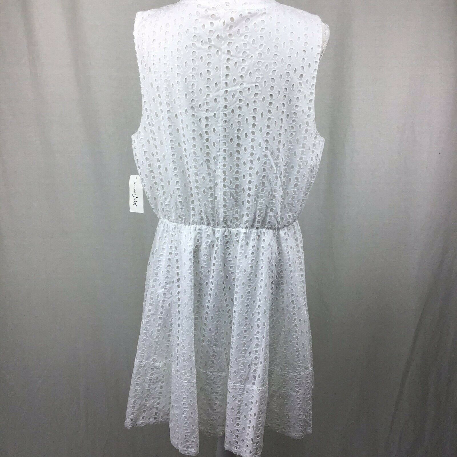 abb72ee839 ... Maison Jules Women Eyelet Fit Flare Flare Flare Dress Bright White Size  XXL D0118 5681a5 ...