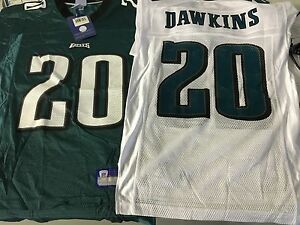 wholesale dealer 87f95 76d76 Details about BRIAN DAWKINS #20 PHILADELPHIA EAGLES NFL REPLICA WHITE  JERSEY FREE SHIPPING!