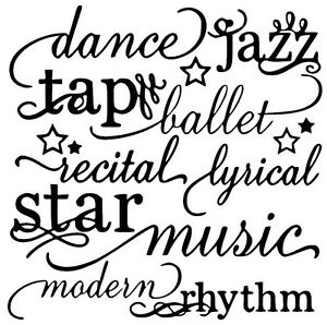 dance words lettering wall decal subway art sticker quote saying