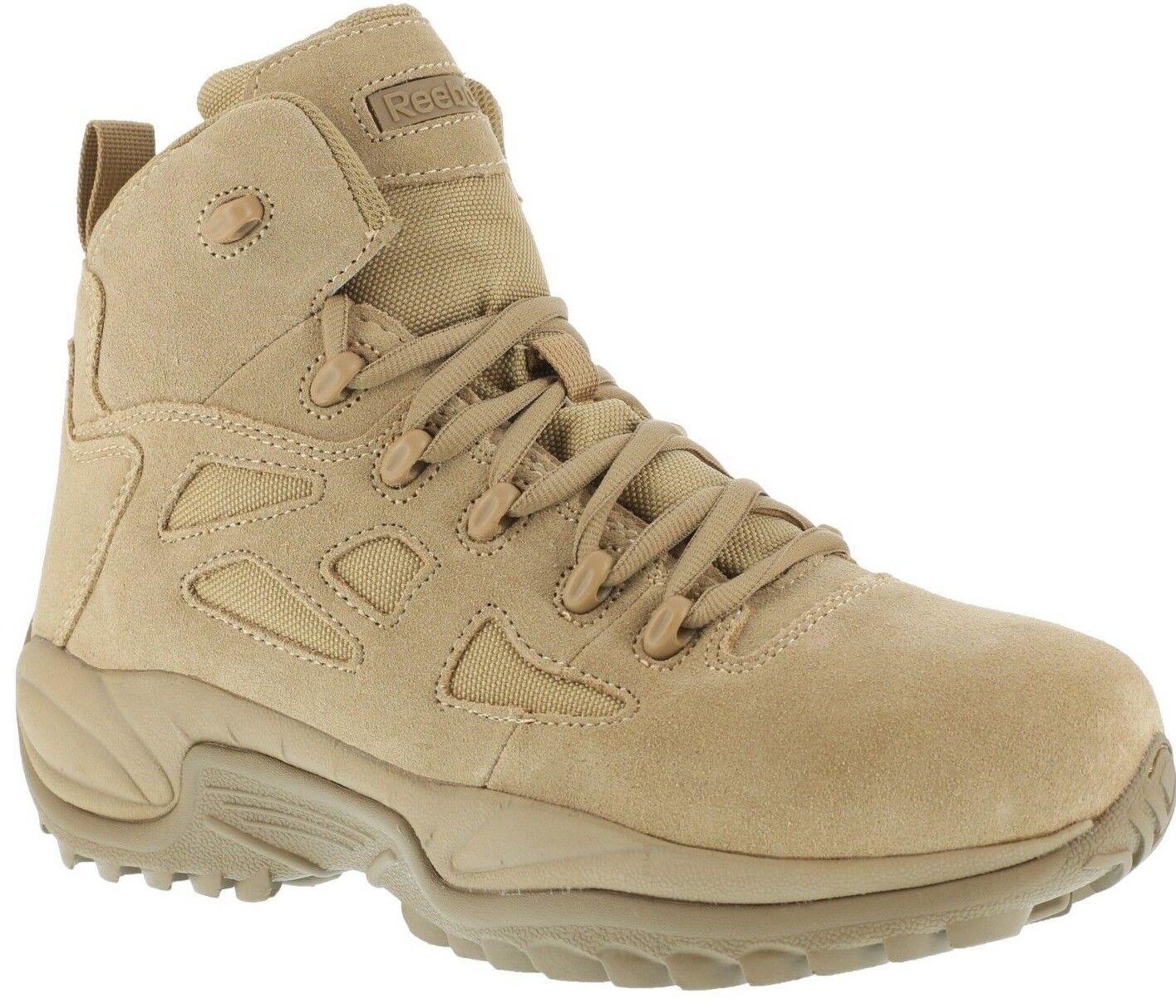 Reebok RB8694 Mens Desert Tan 6 6 6  EH Side-Zip Comp Toe Tactical Stiefel Cushioned 66e81e