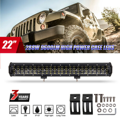 """22/"""" Inch 720W LED Curved Work Light Bar Flood Spot Combo Offroad Lamp Car Truck"""