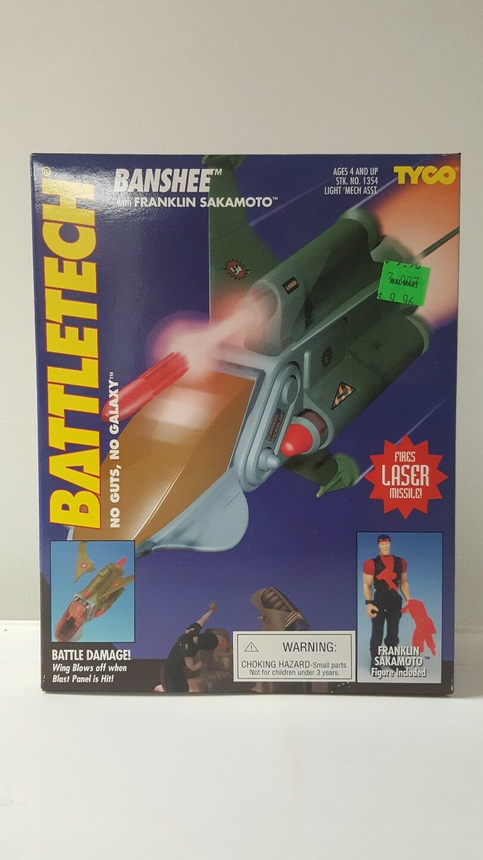 Battletech 1994 Tyco Banshee  with Franklin Sakamoto NEW MISB Sealed mint