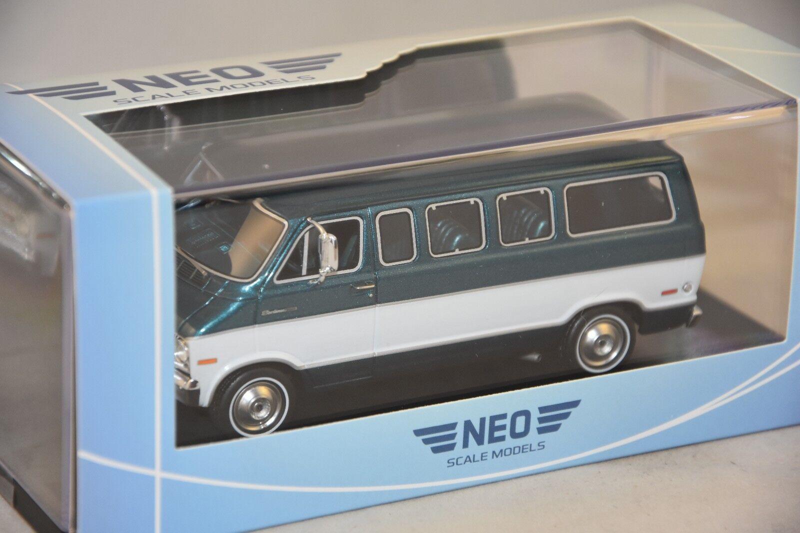 exclusivo NEO 46942 46942 46942 - Dodge Sportsman verde métallisé   blanco - 1973 1 43  diseñador en linea