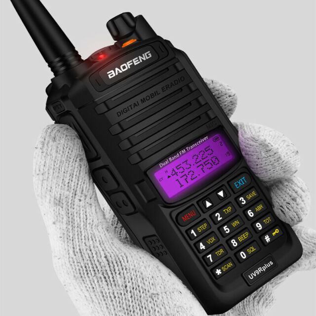 Handheld 5W Dual Band Walkie Talkie VHF UHF Two Way Audio IP67 Waterproof Black