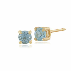 Gemondo-Blue-Topaz-Round-Stud-Earrings-In-9ct-Yellow-Gold-3-50mm-Claw-Set