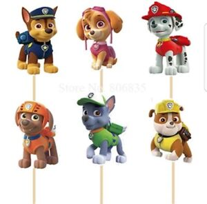 24-Pcs-paw-patrol-Cupcake-Toppers-Kids-Birthday-Party-Supplies