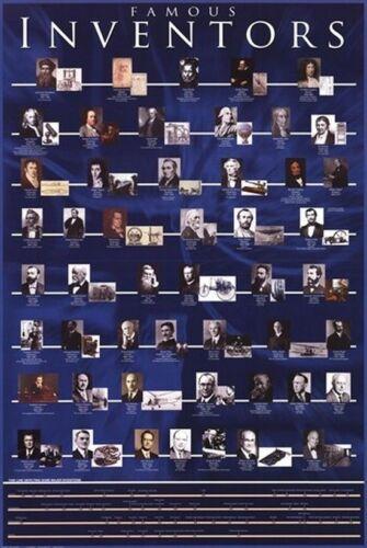 61cm x 91.5cm XS7790-622 Famous Inventors Maxi Poster