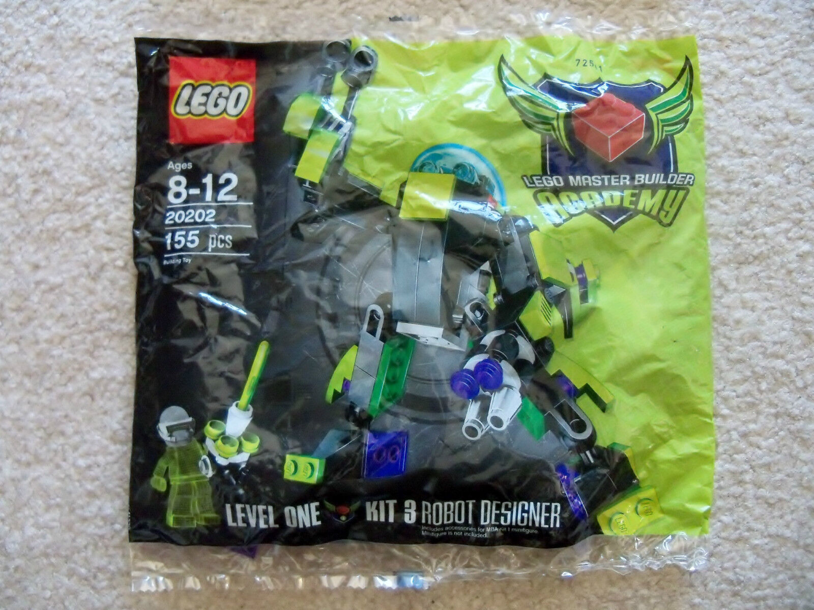 LEGO - MBA Master Builder Academy Level 1 20202 - Robot Designer - New Sealed