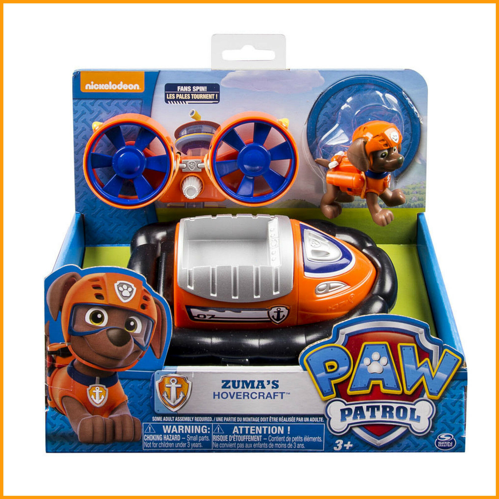 Paw Patrol Zuma Hovercraft Toy - Zuma Toys Paw Patrol - Aussie Seller  Authentic