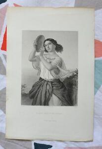 Belle Gravure Sur Acier Xixème - Marie, Sœur De Moïse - Gustave Staal - B. Eyles Qdqll61q-08004408-927533193