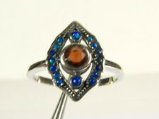 .25ct Natural Garnet and Opal Victorian Deco Sterling Silver Filigree Ring 1041O