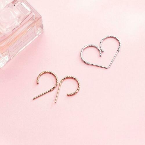 Ohrringe Creolen geriffelt aus 925 Sterling Silber /& rosévergoldet 12mm