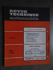 REVUE TECHNIQUE AUTOMOBILE RTA FIAT 125 SIMCA 1500 1968