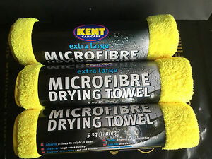 KENT CAR CARE EXTRA LARGE MICROFIBRE DRYING TOWEL 5 SQ.FT - PACK...