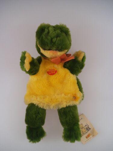 852 Steiff Handpuppe Happy Frosch 253782 1997-1999 komplett mit KFS Puppen