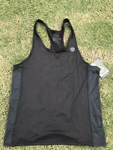 Gold's Gym Menstank Top Advance Performance Stringer L New Activewear