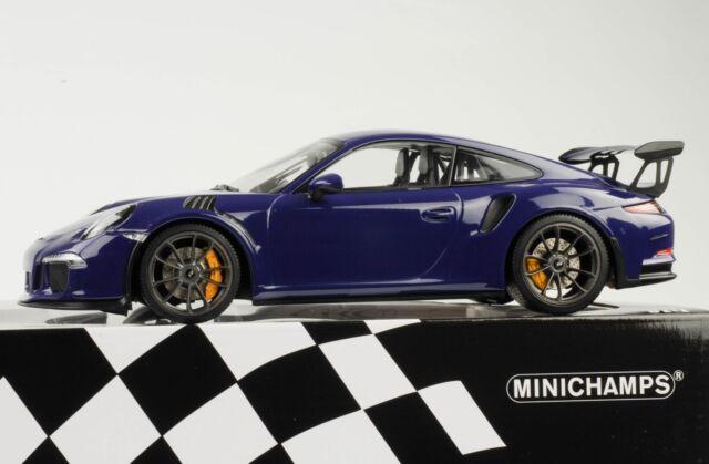 Porsche 911 991 GT3 Rs Ultravioleta 2015 1:18 Minichamps Diecast