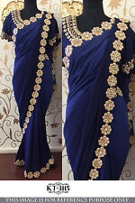 Traditional Indian Designer Bollywood Heavy Wear Blouse Saree Party-LSCSA468