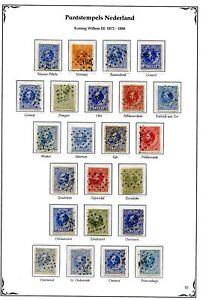 Nederland-puntstempels-op-Willem-III-1872-van-192-t-m-214-opruiming-sale