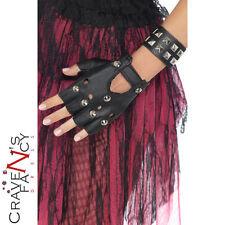 Anni'80 Punk con borchie nera in PVC Bracciale 80's Rock Donna Fancy Dress