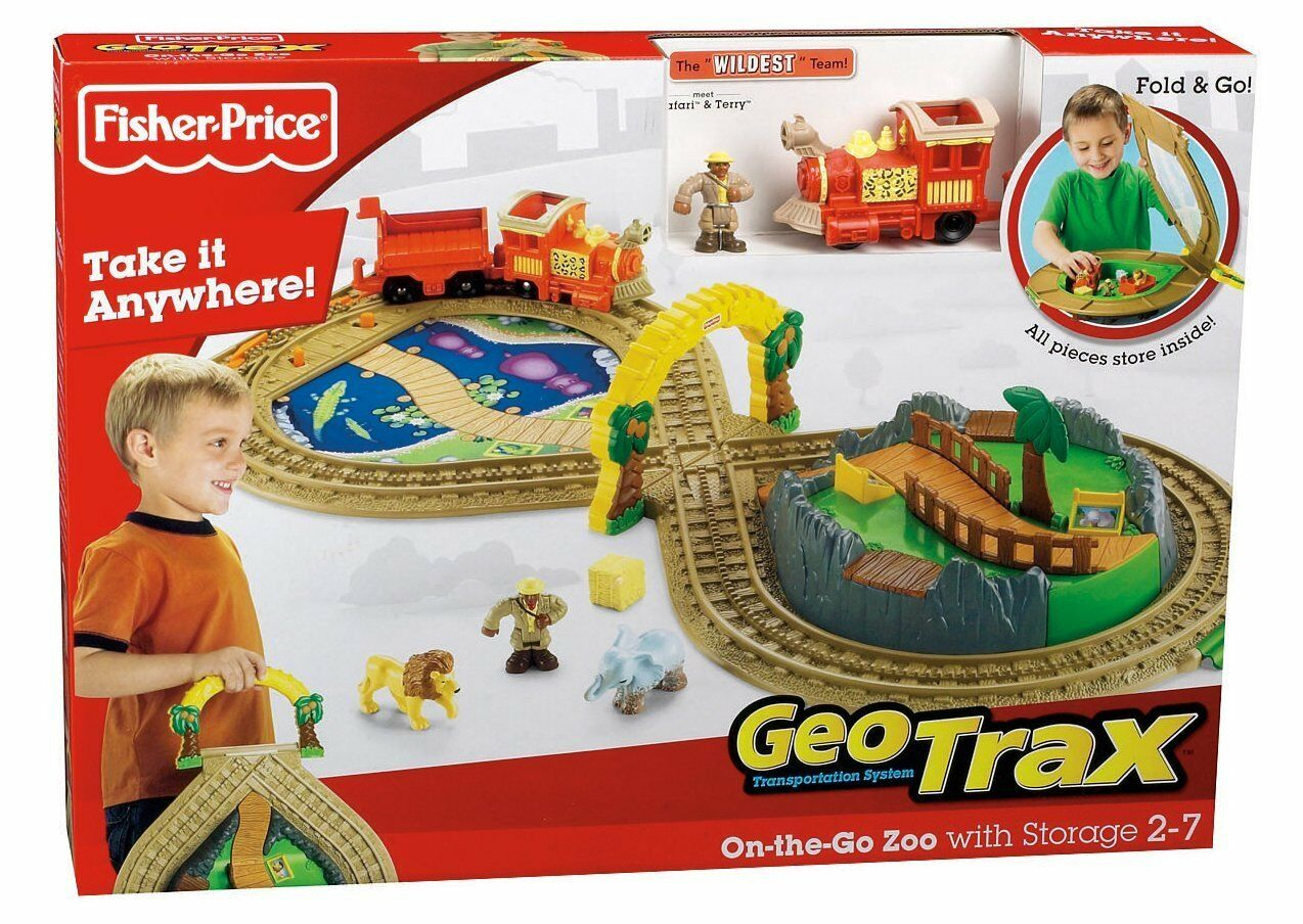 NEW Geotrax On the Go Zoo Train 2 Handiest & Greenest Teams Engines Fisher Price
