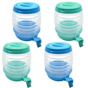 4er-Set-Wasserspender-mit-Zapfhahn-3-5l-Getraenkespender-Saftspender-Faltbar