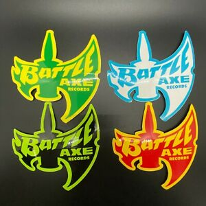 STICKER-Battle-Axe-Records-4-Assorted-Colors-OG-NEW