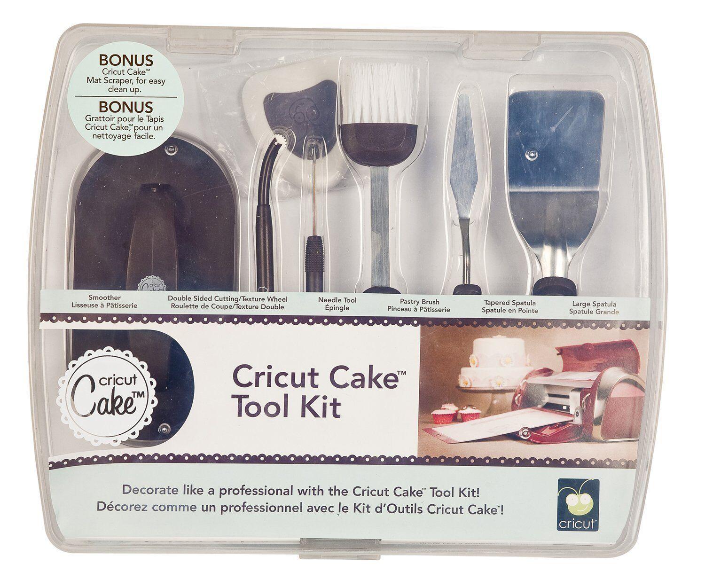 CRICUT CAKE TOOL KIT  6 Tools w  Spatulas & more   NEW In Case  RARE   2000331