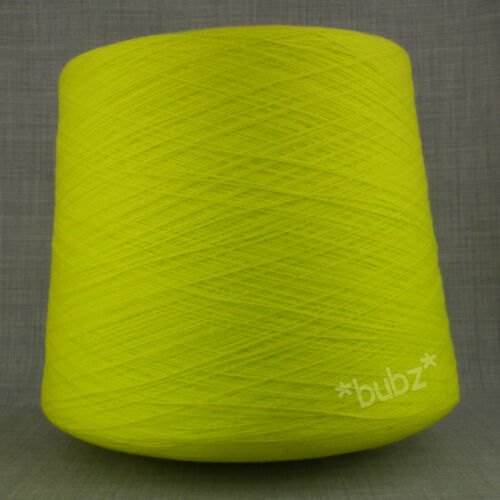 BIG 1.7KG CONE CITRUS 2//30s YARN 1 2 PLY INDUSTRIAL KNITTING MACHINE LIME YELLOW