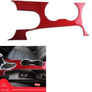 Rot Kohlefaser Schalttafel Abdeckblende Dekoration für Ford Mustang MKVI 2015-19