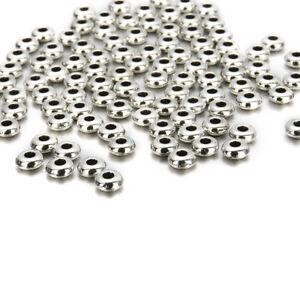 DIY-100Pcs-Tibetan-Silver-loose-Spacer-Beads-Crafts-Jewelry-Bracelet-Finding-6mm