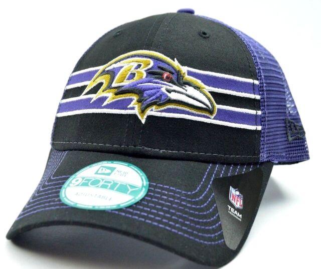 9422133628e Baltimore Ravens Era 9forty FRONTBAND NFL Team Logo Trucker Cap Hat ...