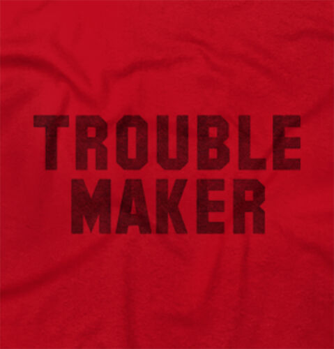 Trouble MakerFashion Rihanna Jay Z Hip Hop Skate Slogan Junior V-Neck Tee