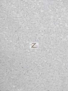Image Is Loading Mini Disc Sequin Nylon Mesh Fabric Shiny White