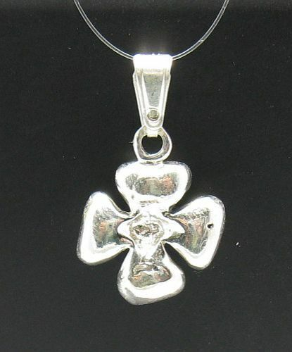 STERLING SILVER PENDANT FLOWER 925 CHARM NEW