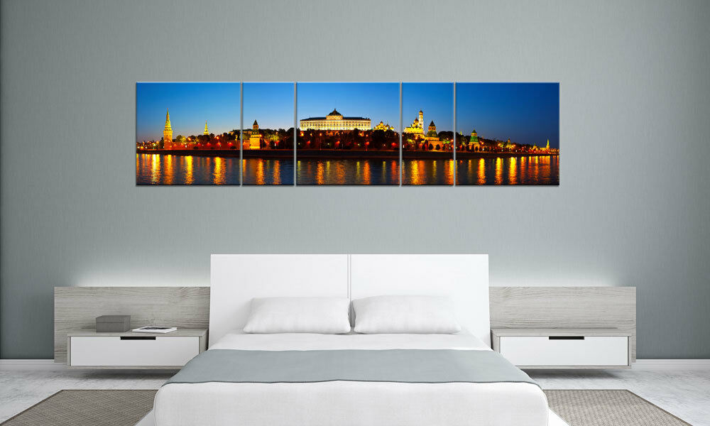 Russia Castle Moscou panorama 5 images p500050 xxl toile chassis Living