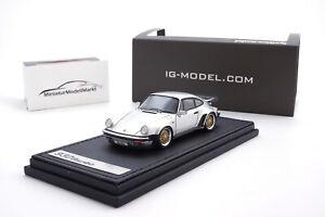 ig0942-ignition-Model-Porsche-911-Turbo-930-plata-BBS-llantas-1-43