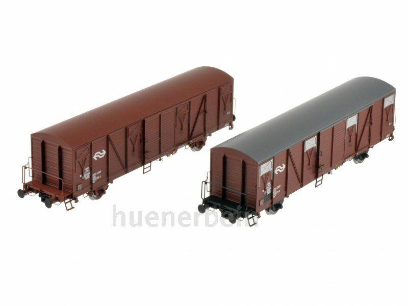 Exact-train 20258 NS Set 2x gedeckte Güterwagen Gbs braun Ep4b braun NEU+OVP
