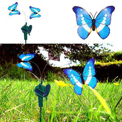 3 Solar Powered Flying Fluttering Butterflies for Garden Plants Decor Colorful