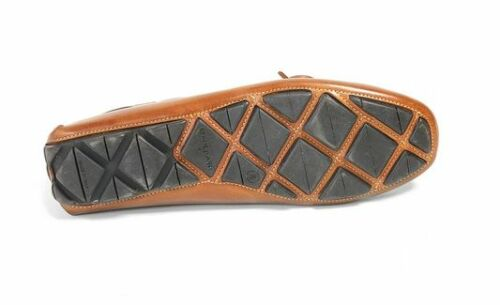 NIB Donald J Pliner Men/'s Hearst Leather Driver Slip On Shoes in Saddle Tan