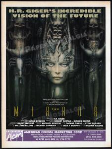 H.R. GIGER_THE MIRROR__Orig 1989 Trade Print AD__unmade film promo__Necronomicon