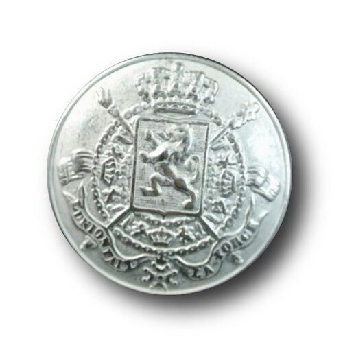 Krone /& gekreuzten Zeptern 0513si 5 silberfb Wappen Metall Knöpfe mit Löwe